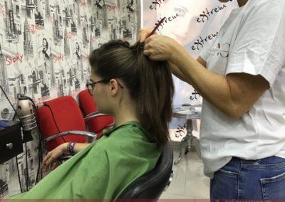 Recogido y Maquillaje para graduación en Extrem peluquería Jaén
