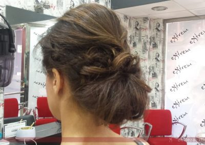 Recogido para boda realizado en Extrem peluquería de Jaén