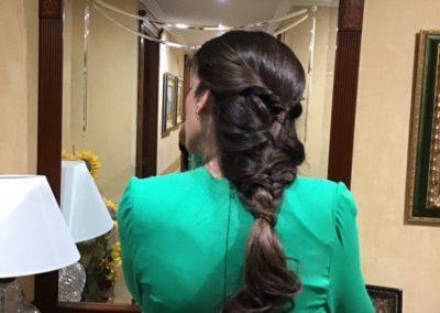 Trabajos de recogidos y maquillaje Boda Jaén. Extrem peluquería Novia Jaén