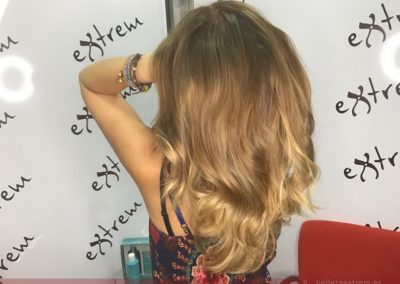 Trabajos con Balayage y corte en Extrem peluquería de Jaén