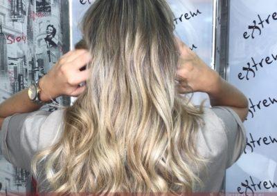 Trabajos con Balayage en Extrem peluquería de Jaén