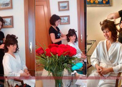 Peluquería y maquillaje para la Novia, la hermana y la madre