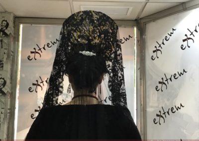 Preparación de Mantillas de Semana Santa en Extrem peluquería