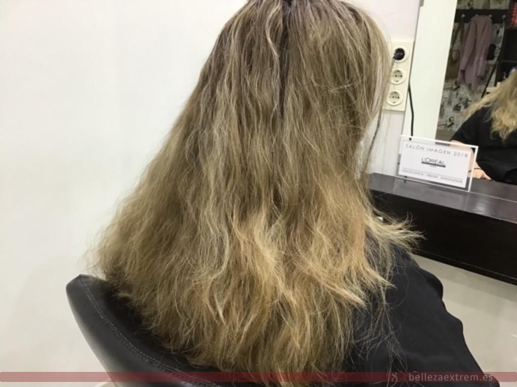 Trabajo de Color en Extrem peluquería de Jaén