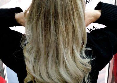Trabajo de Balayage en Extrem peluquería de Jaén