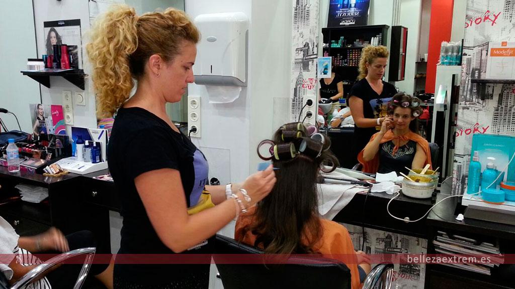 Servicio de peluquería estética para Novia en Jaén