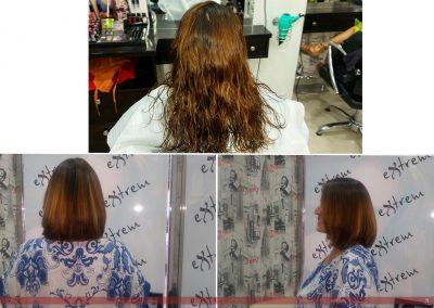 Cambio de look en Extrem peluquería: corte y color