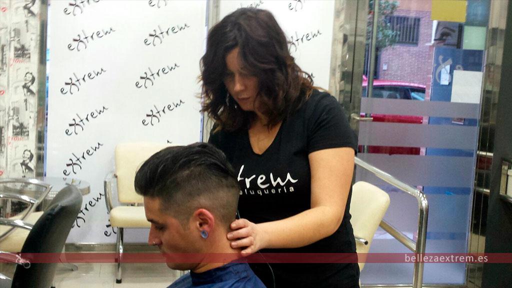 Corte en degradado para hombre en Extrem peluquería