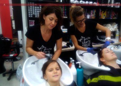 Peluquería para niñas: lavado, corte y trenzado