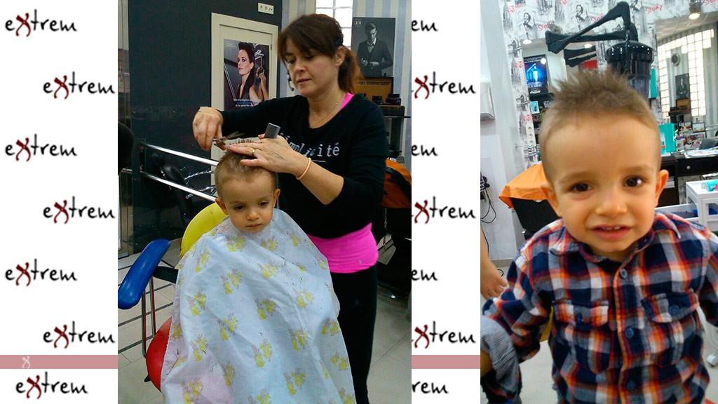 Corte de pelo para niños en Extrem peluquería y estética